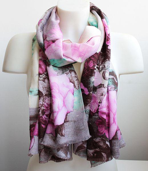 Шарф aliexpress hot sale peony print new korean chiffon scarf women fashion thin scarves gift for women ot010